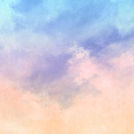 Retro watercolor sky background - abstract soft pastel morning light