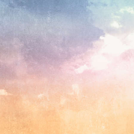 Watercolor background with abstract retro sky texture