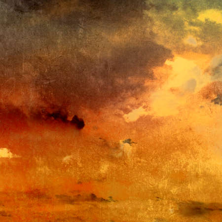 Dark grunge background - abstract sky with clouds and sunlight