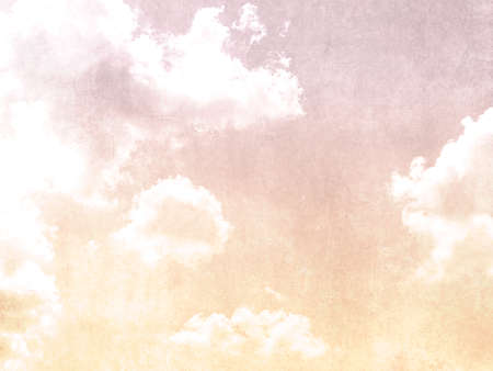 Watercolor sky background with clouds