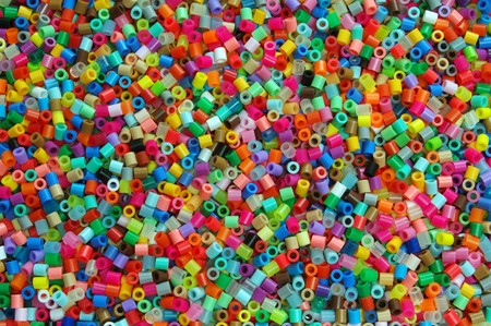 Very colorful craft bead background photo