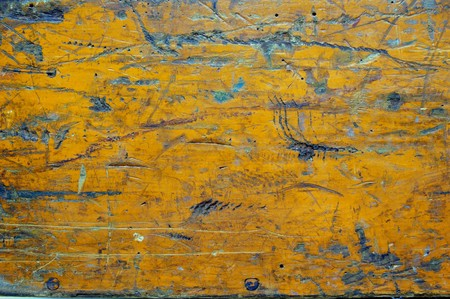 Distressed orange painted wood plank Stock Photo - 4433908