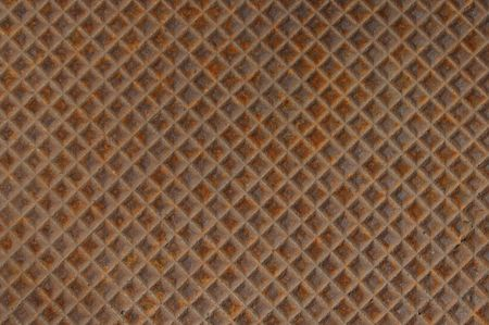 Rusted metal background grid patterned texture photo