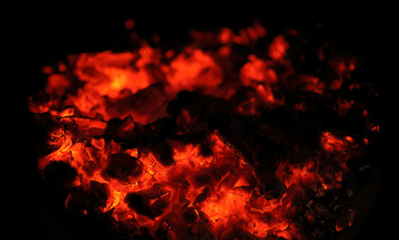 coals: abstract background of burning coals