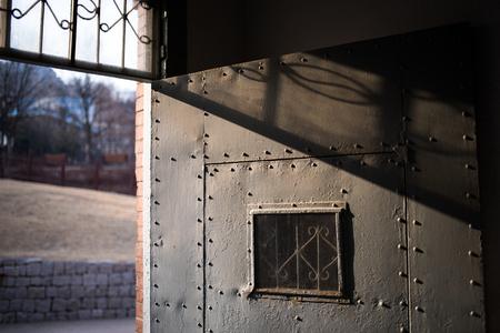 prison: an open prison door Stock Photo