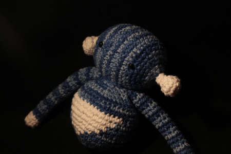 Curious blue alien Banco de Imagens