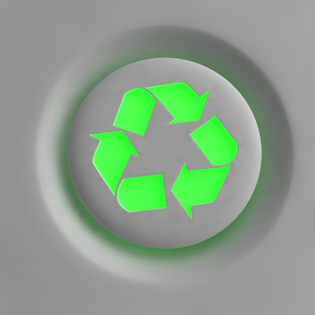 An enlightening recycling button Stock Photo - 7444331