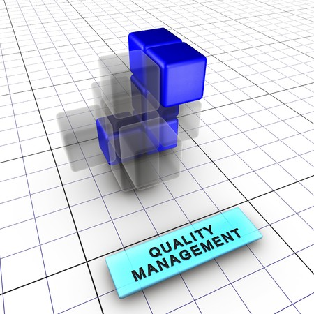 Budget, quality, performance and shedule managements integrate risk management (identification, analysis, tracking, control). Risk management is integral to project management.6 figures depict risk management process and interactions: 1-Integrated risk ma Stock Photo - 7444315