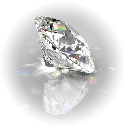 Diamond with white rounded frame photo