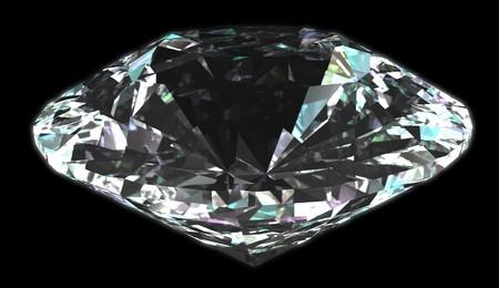 Isolated diamond with black background photo