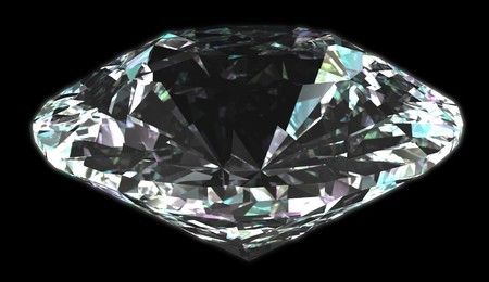 brillant: Isolated diamond with black background