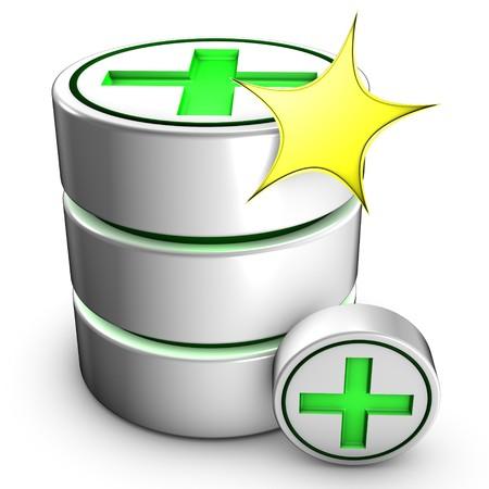 dataflow: Icon symbolizing the creation of a new database.