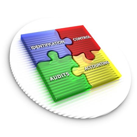 Administración de la configuración se utiliza para establecer y mantener la integridad de los productos de trabajo mediante la identificación de la configuración, control, estado de contabilidad, auditorías.