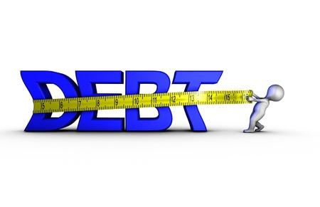 Reducing debt Stock Photo