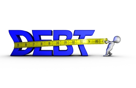 reducing: Reducing debt Stock Photo