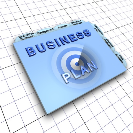 Business plan document: Process of planning ahead for success photo