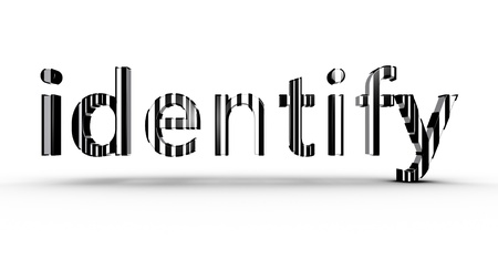 identify: Identification concept using black and white bar code