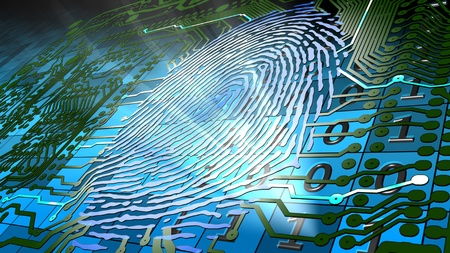 access card: Method for uniquely recognizing humans based upon fingerprint traits