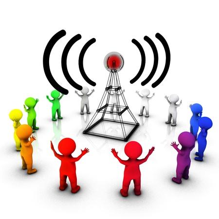 Radio broadcast informing the public