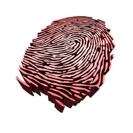 sensores: Vector - huella digital para la autenticaci�n Vectores