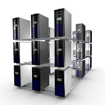 Several interconnected computer working together