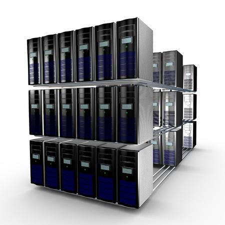 interconnected: Varios interconectado equipo trabajando juntos