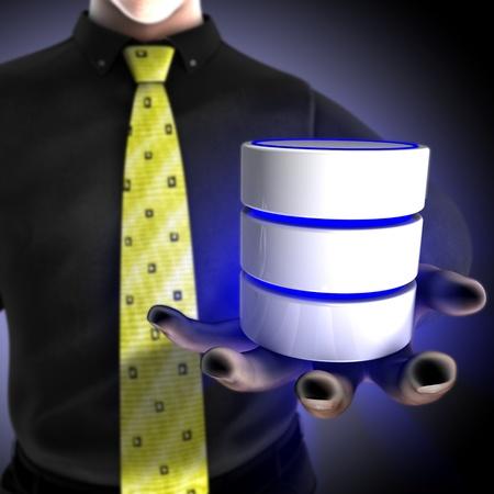 Businessman providing a database Stock Photo - 12803294