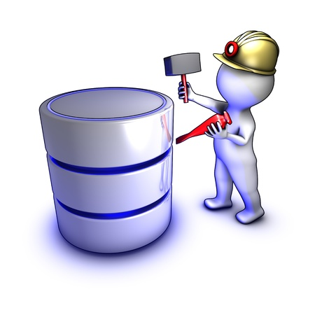 Concept of a character extracting data from a database