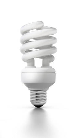 uv: Compact fluorescent lamp Stock Photo
