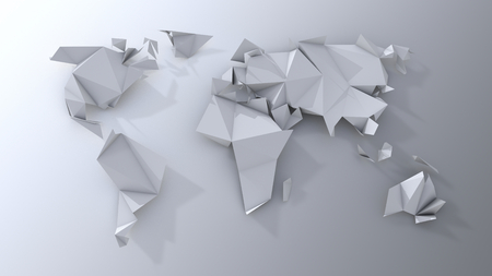 Origami continents scrapbooking. photo