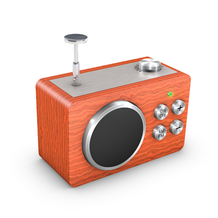 3D vintage touch radio receiver Stock Photo - 23819988
