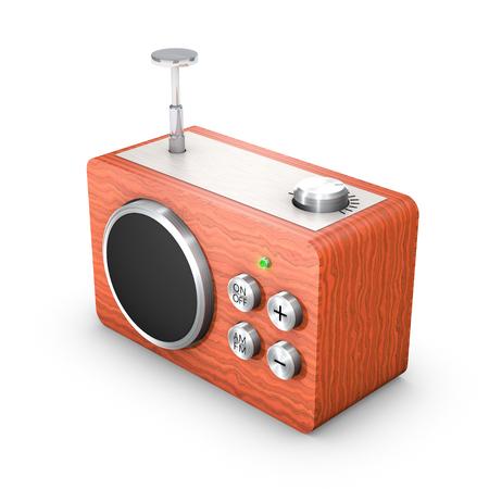 3D vintage touch radio receiver Stock Photo - 23819983
