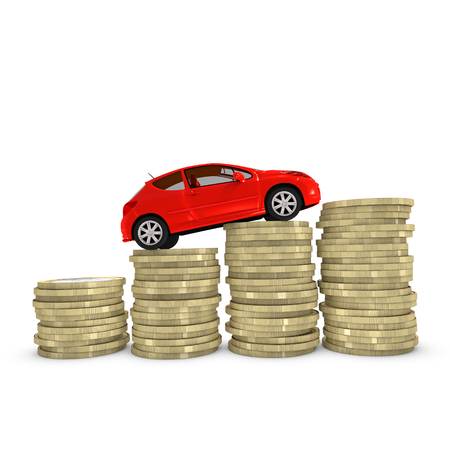 Cost of purchasing and maintaining a car Stock Photo