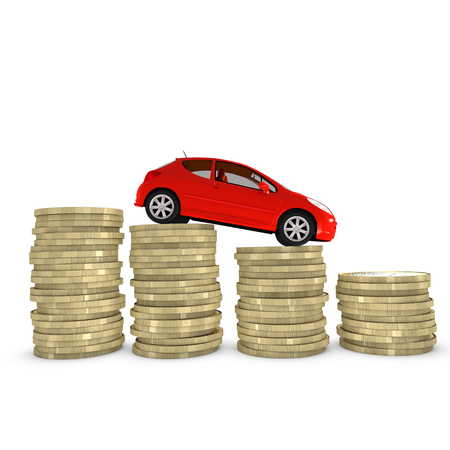 car manufacturing: Reducing cost of purchasing and maintaining a car Stock Photo