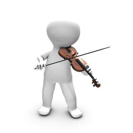 partition musique: Cette illustration montre un homme ayant un réel plaisir à jouer du violon Il est probablement formation ou de jouer devant un large public