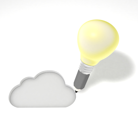 represents: This illustration Represents the design of an internet cloud services.