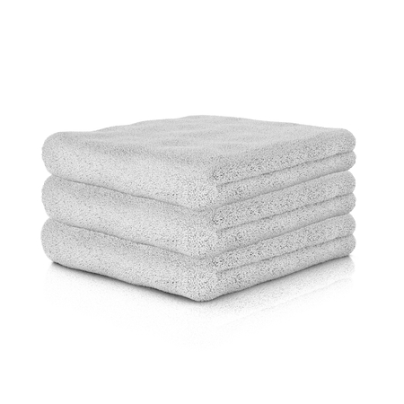 Three white folded towels. 3d rendering.