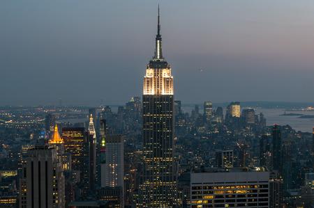 Aerial view of Manhattan photo