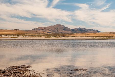 ut: Scenic view of Great Salt Lake landscape, UT.