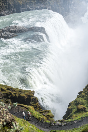 Vertical view of of famouse Gullfoss. photo