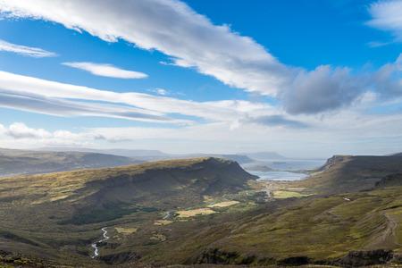 Aerial view of wild Icelandic landscape. photo