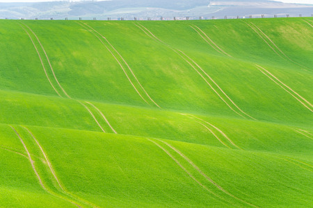 Scenic view of beautiful Moravian Tuscany landscape in South Moravia, Czech Republic. Stock fotó