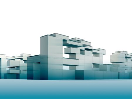 3d render minimalism and constructivism style building Stock Photo - 5621689