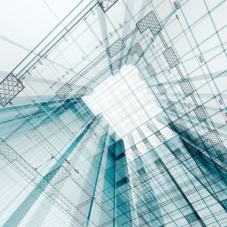 engineering design: Architecture engineering. My personal concept architectural project Stock Photo