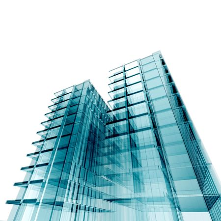 3d skyscrapers. My personal concept architectural project Stock Photo - 6469834