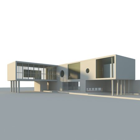 constructivism: Concept building. Isolated high quality 3d render