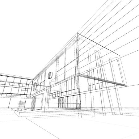 constructivism: Blueprint on white. My personal architectural project