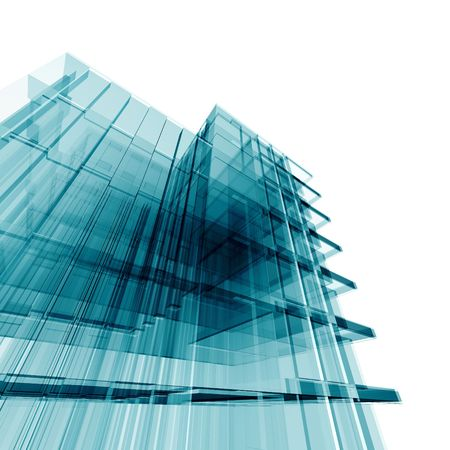 Office building. Amazing turquoise glass and reflections Stock Photo - 6732035