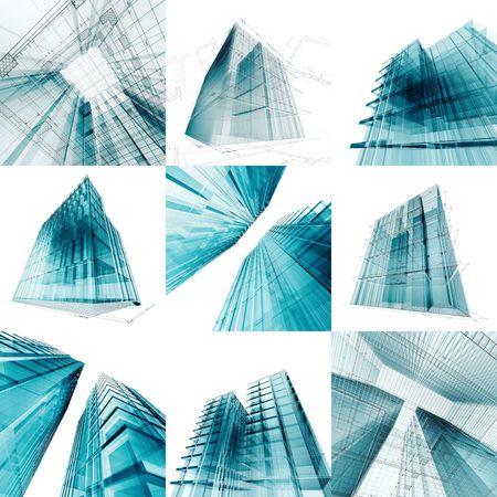 edificio cristal: Ingenier�a de colecci�n de arquitectura. Mi proyecto arquitect�nico de concepto personal