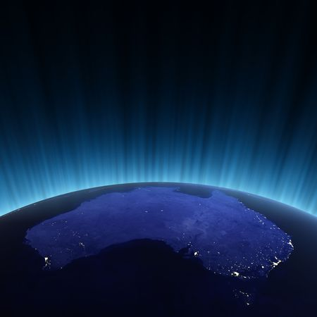 imagery: Australia from space. Maps from NASA imagery